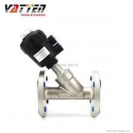 德国VATTEN常闭型气动法兰角座阀,制氮机过氧气不锈钢气动角阀FP8012-23