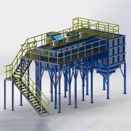 山水环保磁加载絮凝污水处理设备工艺 油田废水磁絮凝设备磁分离技术原理支持定制