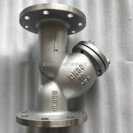 科锐福阀门Y型过滤器 Y型管道过滤器 滤网 自清洗 不锈钢 螺纹GL41H