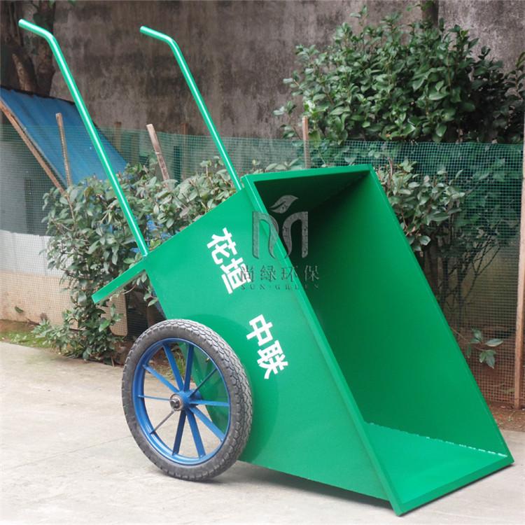 尚绿匠品 加工定制市政环卫手推车人力不锈钢斗车