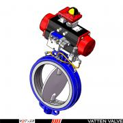 VATTEN气动膨胀蝶阀 耐磨损气动阀门 过泥浆物料VT1PDW11A