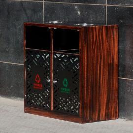 尚绿匠品 环卫果皮箱公园景区户外不锈钢烤漆二分类垃圾桶