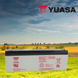 YUASA汤浅12V3.2AH铅酸免维护蓄电池NPH3.2-12