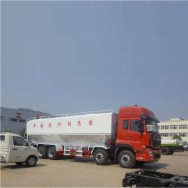 程力威44方天龙前四后八散装饲料车电动卸料好上户不超重燃油环保齐全CLW5400
