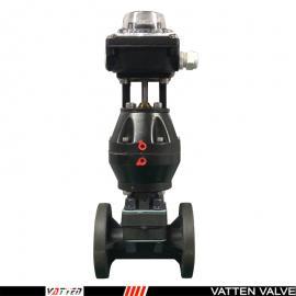 VATTEN进口气动PVC塑料隔膜阀,塑料法兰隔膜阀VTGMF