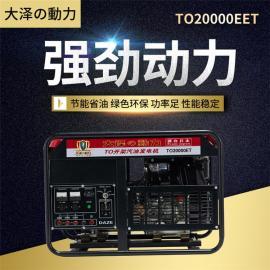 大泽动力 无人值守12kw汽油发电机 TO13000ET