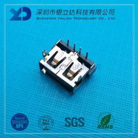 YLDCONN USB2.0 AF短�w10.0前插后插 超薄5.7/6.0 LCP耐�啬z芯 USB200101