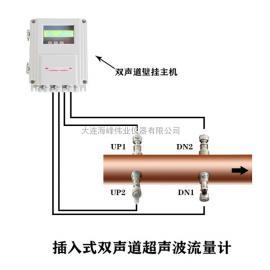 海峰伟业 插入式双声道超声波流量计 HF-2000