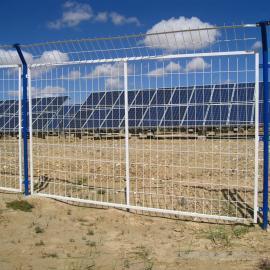 博安 光伏发电站隔离栅钢丝隔离网安装 钢网围墙组装