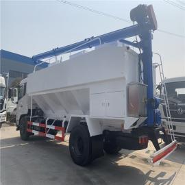 东风大型上下料散装饲料车15吨30方运输罐车分仓散装饲料罐车2020年款