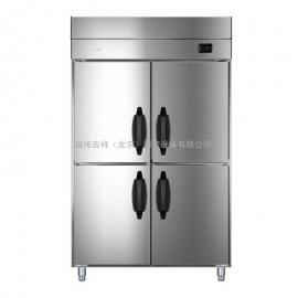海尔 (Haier) 商用立式冷柜 四门 冷藏冷冻双温雪柜 不锈钢厨房冰箱 SL-980C2D2WB