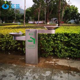 圣蓝 室外饮水台 不锈钢免杯按压喷泉直饮机 公园景区直饮水台 SL-HIL-02