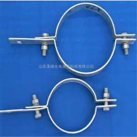 圣峰光电 不锈钢抱箍 铝合金电缆固定金具 BG-300