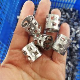 蒸馏塔316L金属鲍尔环填料DN25mm不锈钢鲍耳环科隆填料