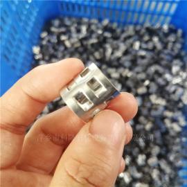 科隆填料尿素塔SUS316L金属鲍尔环填料现货秒发DN25/DN38/DN50/DN76