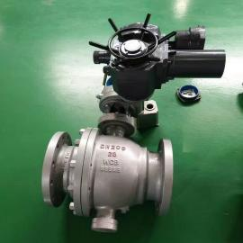 三 精电动固定球阀多回转执行器高压软密封高温Q947F