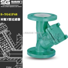 S-YG41F46Y型衬氟过滤器始高阀门