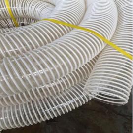 龙威PU聚氨酯钢丝通风管工业吸尘软管抽粉尘水泥厂除尘管4*2.5 6*4.8