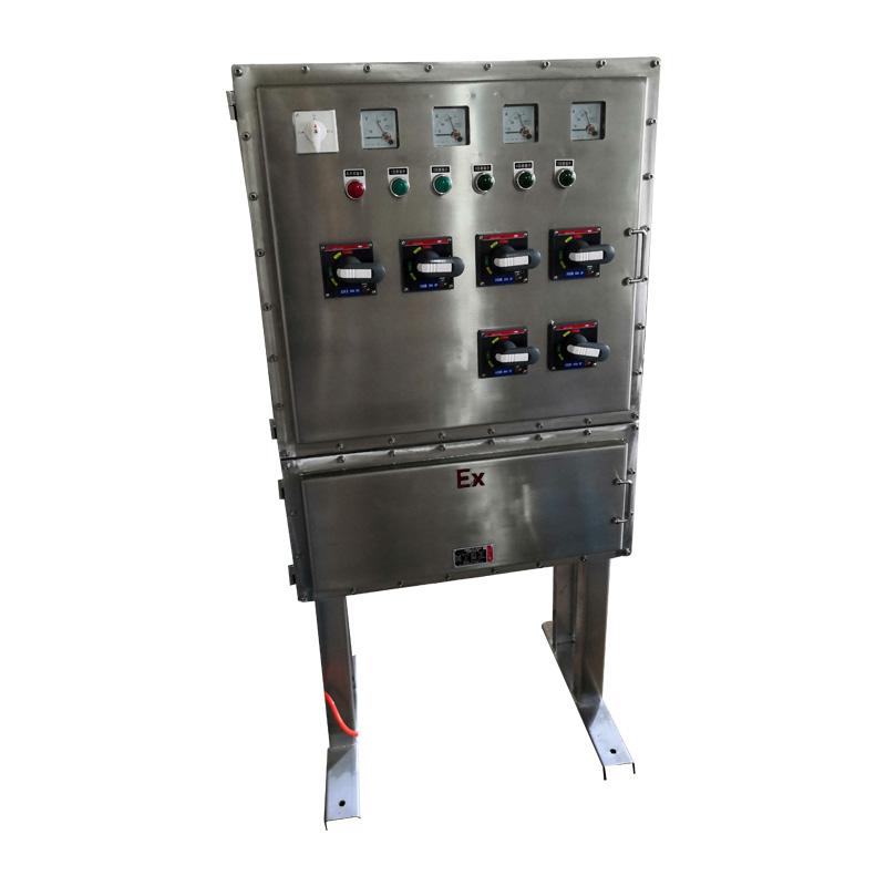 IIC不锈钢防爆配电箱落地式防爆仪表配电箱BXMD-G-9K