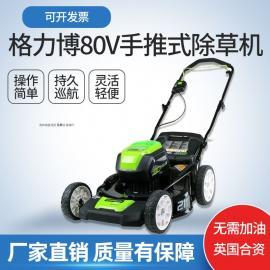 格力博电动手推Greenworks锂电充电草坪机花园除草机
