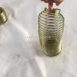 乔达镀锌弹簧式除尘器骨架 可伸缩除尘袋笼120*2000