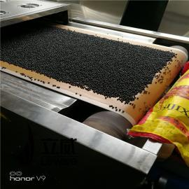 立威网带式五谷杂粮微波低温烘焙机设备生产线60kw