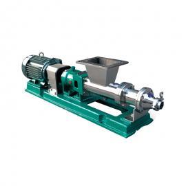 富瑞康不锈钢喂料型螺杆泵食品级浓浆泵上方口进料推进式G