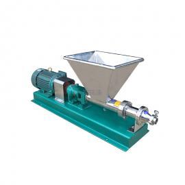 富瑞康不锈钢喂料型螺杆泵浓浆泵酱料泵葡萄醪输送泵循环泵G