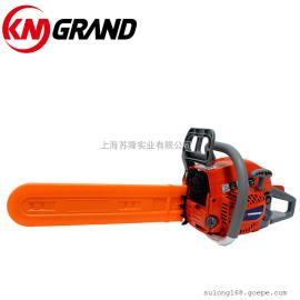 KM GRAND 18寸双手把手提式汽油锯 修枝伐木锯 果树锯