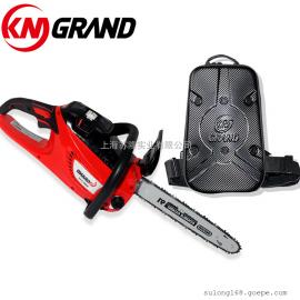 KM GRAND 48V 双手手提式电动电链锯 大功率修枝伐木锯