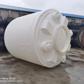 华社10吨水处理专用水箱食品级白色大水塔雨水回收罐滚塑一次成型10T