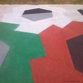 真石��建�O美��新城市 透水混凝土彩色地坪