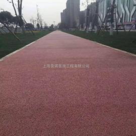 真石丽透水地坪水性增强剂强固彩色透水混凝土路面