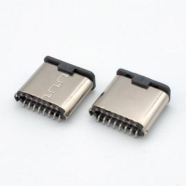 CMTYPE C 16P公�^立式�N板 7.2mm高 USB�B接器磁吸�^�S� 3.1