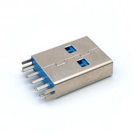 CMUSB 3.0公�^�A板180度立式直插9P�~叉�_�{色�z芯A公 007
