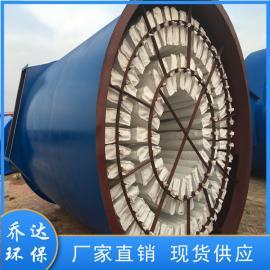 乔达环保碳黑行业144型回转反吹扁袋式除尘器 振打式布袋收尘器ZC