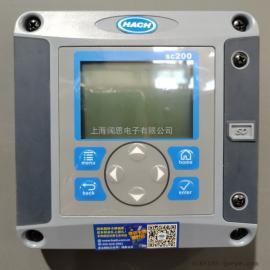 HACH工�I控制器 �岫� 余氯,溶氧�x通用型�底肿�送器SC200