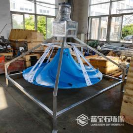 潜水式双曲面搅拌机不停产带水安装QSJ-1500-4蓝宝石