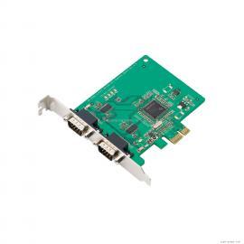 MOXA摩莎CP-102EL 通�卡2端口RS-232 PCIE多串口卡