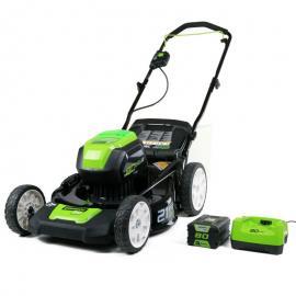 格力博(greenworks)推草机80V手推式剪草机电动草坪机家用割草机LMB407