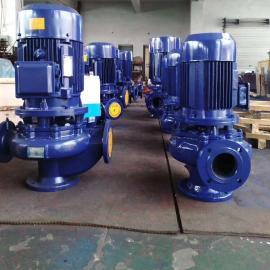 鄂泉立式�o堵塞管道泵 不�P�立式管道排污泵100GW100-30-15