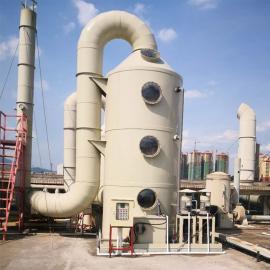酸碱工业废气处理 喷淋塔处理工艺原理 活性炭吸附30000�O/h
