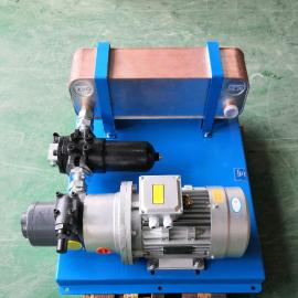 �σ�JIAN YI�p速�C�X�箱油冷�s�b置 液�合到y��立循�h水冷式油冷�s器EHXD-520