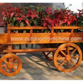 花车,实木花车,户外设施,园林工具