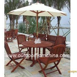 庭院桌椅,园林桌椅,实木桌椅,户外家具