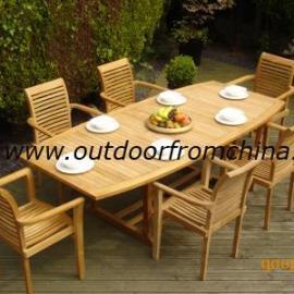 塑木休闲桌椅,塑木园林椅,庭院套椅
