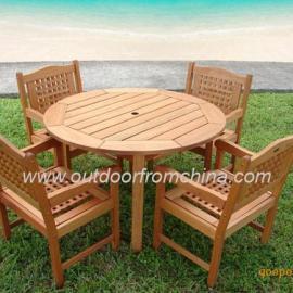 简约桌椅,实木桌椅,庭院用餐套椅