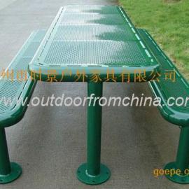 绿色公园桌椅,休息桌椅,简单桌椅