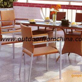 高档藤制桌椅,休闲桌椅,庭院藤制桌椅