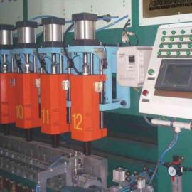 经编钢塑复合网编织生产线设备